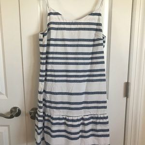 Gap ruffle hem dress
